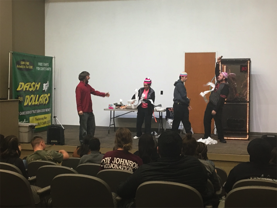 The Dash for Dollars Game Show was hosted by Student Life on Nov. 30 and features a variety of games where students competed for cash prizes.