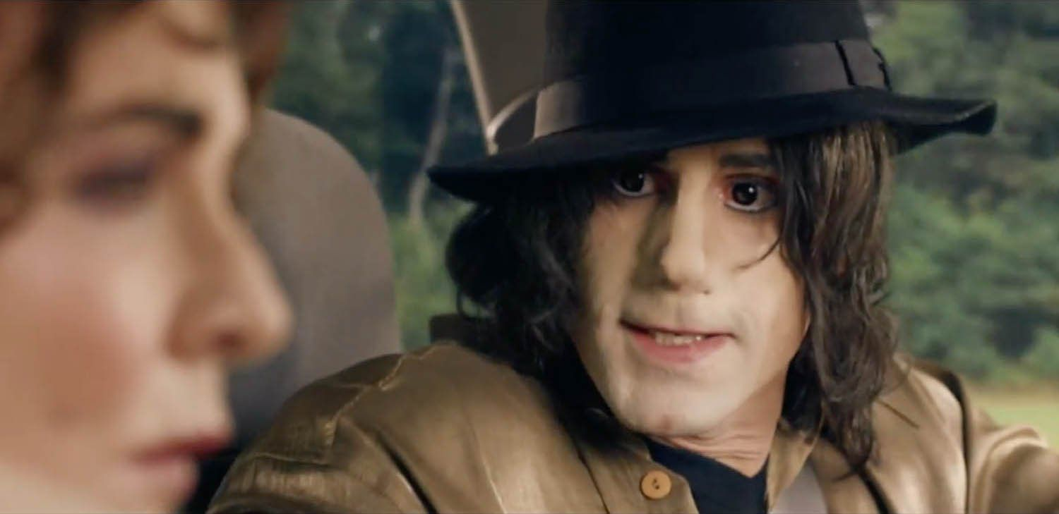 Joseph Fiennes portrays Michael Jackson in a now cancelled episode of Sky Art's produced TV series, 'Urban Myths.' Photo courtesy of Sky Arts.