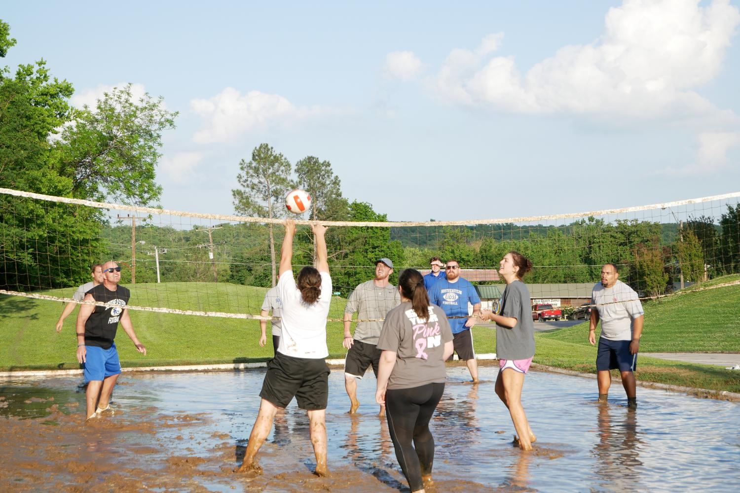 Spring+Fest+teams+competed+in+a+game+of+mud+volleyball+on+Thursday%2C+April+20.