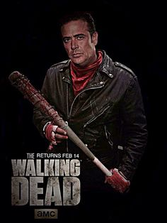 Negan holding his favorite weapon Lucille.