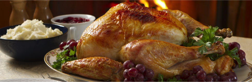 Thanksgiving's Turkey is the centerpiece of the meal, and it is usually baked or roasted (Photo by: www.history.com).