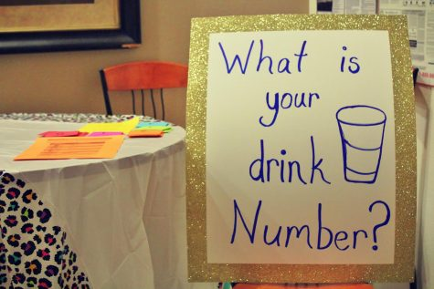 Students were educated about safe drinking at the HRL event
