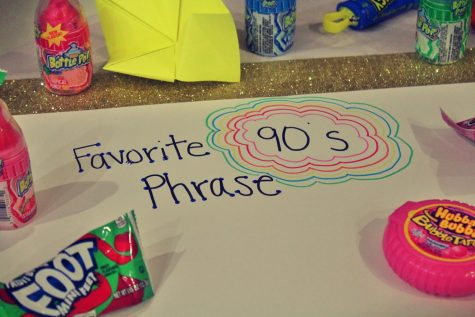 90's themed decorations and snacks were featured at the HRL event