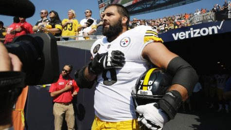 Ex-Army Ranger, Alejandro Villanueva was the only payer from the Steelers that came out of the tunnel for the National Anthem Sept. 24.