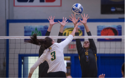 SOSU volleyball falls short of victory during homecoming week.