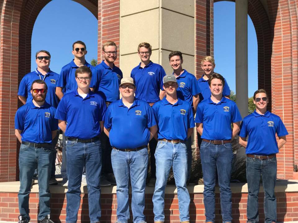 Southeastern's Flight Team finished third overall in the 2017 Region VI SAFECON competition. Front row, left to right: Josh Tisue, Josh Cook, Captain Blake Scott, Dylan Dean, Luke Carson and Jonathan Hardee. Back row, left to right: Jacob Shiver, Taylor Nelson, Captain Derek Bolin, Joshua Brown, Mitchell Mills and Captain Joseph Hammer. Kyle Thomas (not pictured) is the faculty advisor.