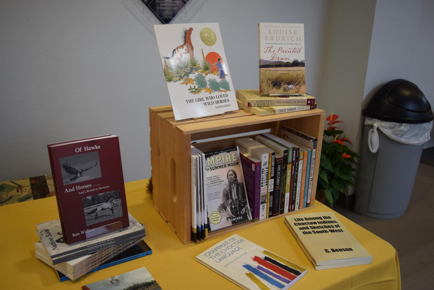 The Southeastern Bookstore presented books about Native American Cultures at the Native American Symposium.