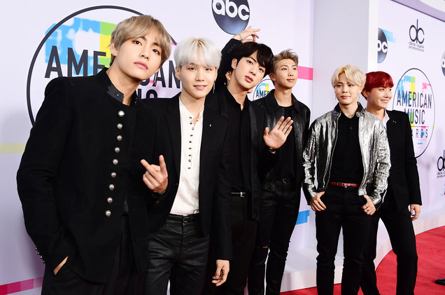 BTS%2C+a+K-Pop+band%2C+poses+on+the+red+carpet+at+the+American+Music+Awards.+They+are+the+first+Korean+Pop+band+to+e+invited+to+the+award+show.