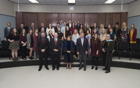 The Alpha Chi national honor society inducts 55 SE students