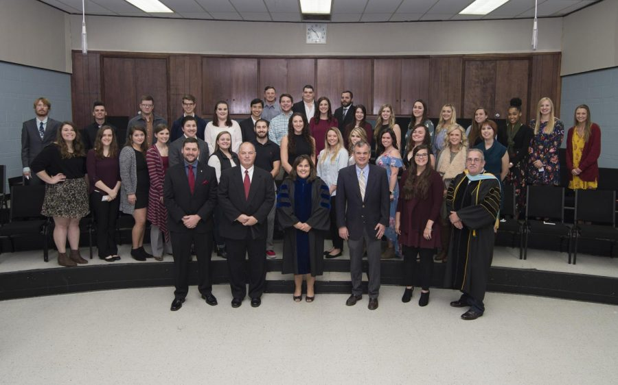 The+Alpha+Chi+inductees+were+recognized+at+a+recent+ceremony.