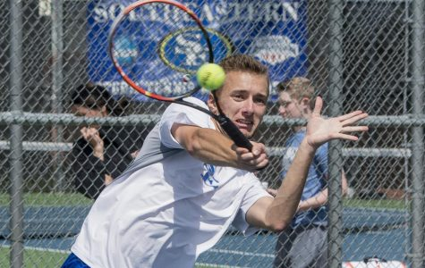 Return home ends in a loss for tennis teams