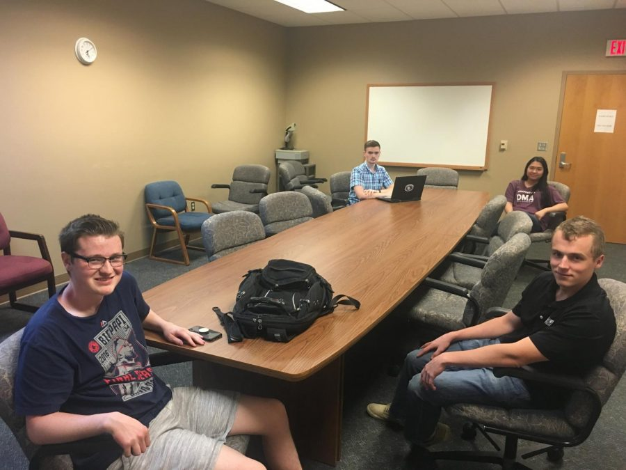 At left, Chairman Jacob Morrison lead the first OIL meeting of the fall semester.