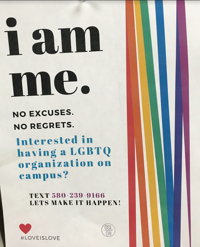 Billy created and posted flyers around campus to gain the attention of students and gain potential members.