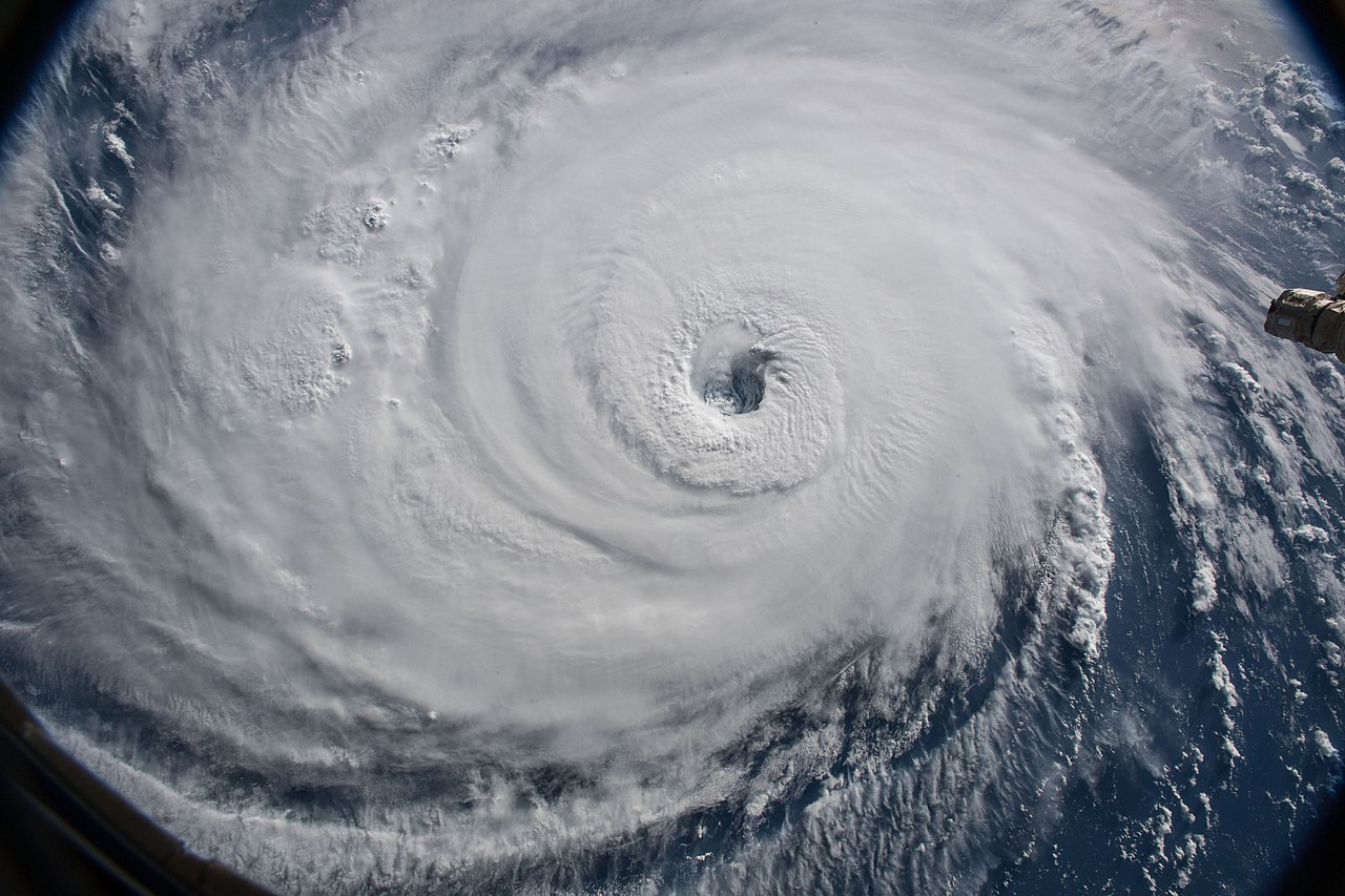 Cameras outside the International Space Station captured a stark and sobering view of Hurricane Florence the morning of Sept. 12 https://creativecommons.org/licenses/by/2.0/deed.en