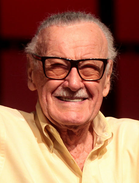 Stan Lee speaking at the 2014 Phoenix Comicon on June 8, 2014. https://creativecommons.org/licenses/by-sa/3.0/deed.en
