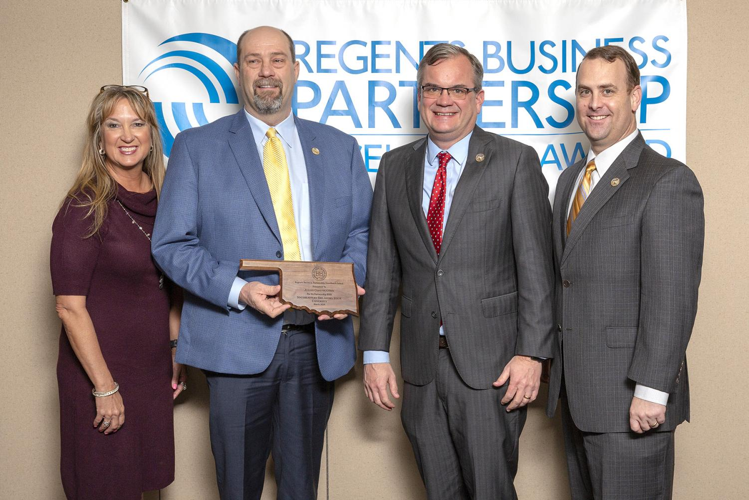 State Regents recognize Julian Construction, Southeastern with Business Partnership Award
