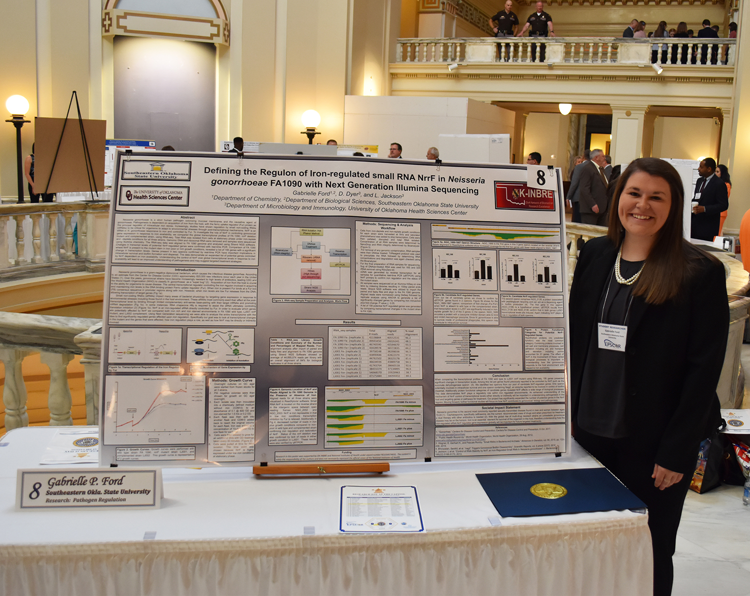 Gabrielle Ford represents Southeastern at Research Day