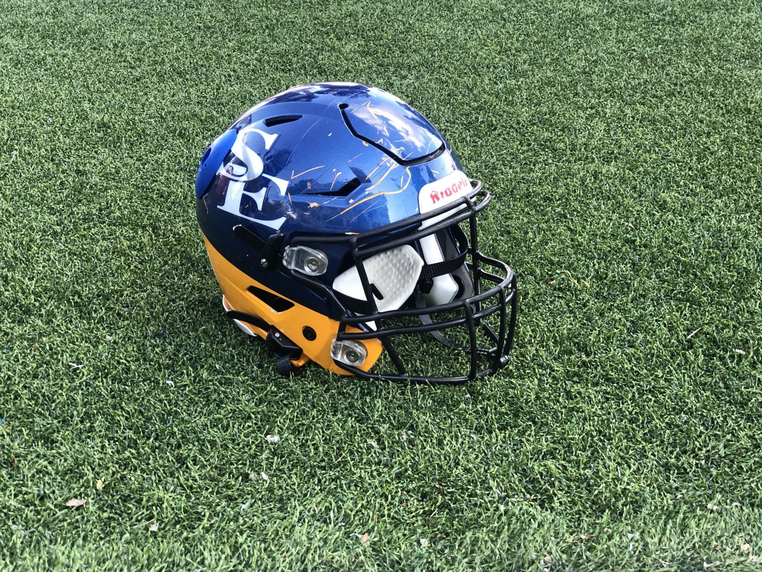 Unlike our current Southeastern football helmets, the helmet James created is exactly like a standard football helmet, but is completely see through, which is meant to showcase the individual wearing it.