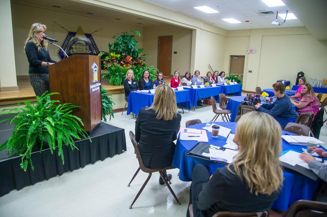 2018 Women's Entrepreneur Seminar panel featuring female entrepreneurs.
