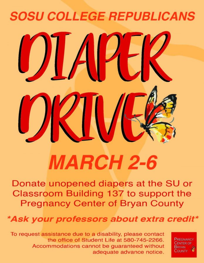 Third annual Diaper Drive hosted by SOSU College Republicans