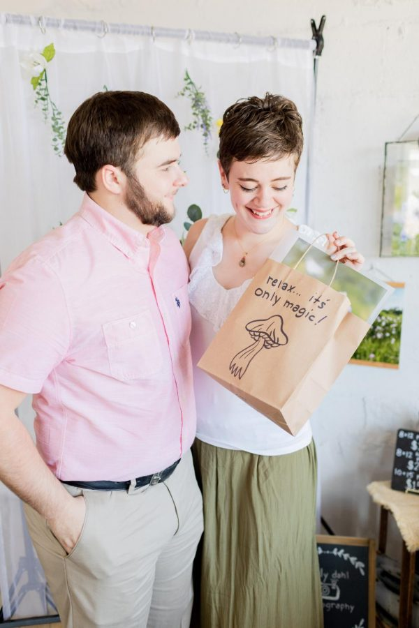 Dillan and Morgan Browne, seniors at SE, visited the August Makers Market and left with goodies from nearly every booth.