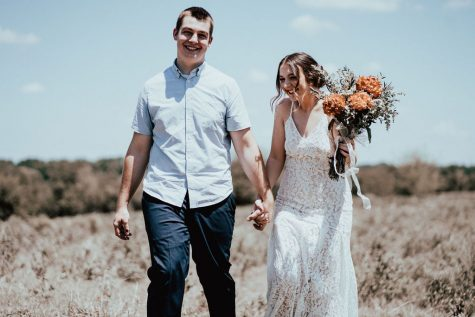 The newly wedded Ervins walk together to lead a Christ-centered life.