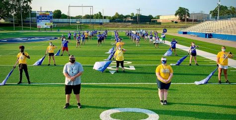 The Spirit of Southeastern Marching Band braved the heat with masks on and held their annual band camp in early August.
