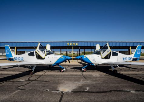 The newest additions to the Southeastern Aviation fleet sit nose to nose, awaiting their next flight.