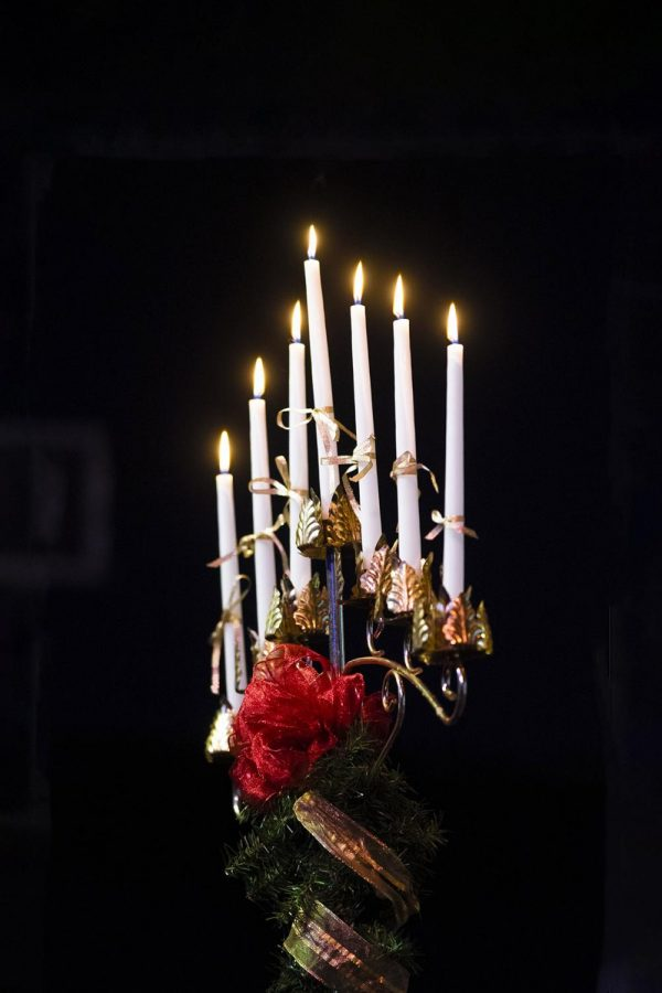 This+years+marks+100+years+of+Southeastern%27s+Candlelighting+Ceremony+tradition.+The+photo+above+depicts+the+candelabra+display+from+the+2019+ceremony.