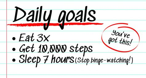 Set daily goals to keep yourself motivated and healthy. A simple three-part check list can make a mountain of difference.