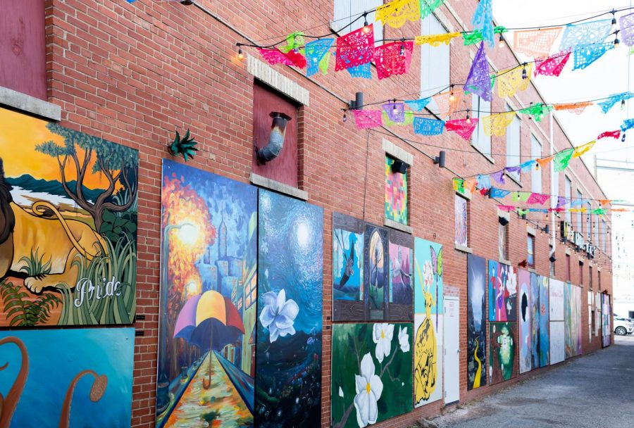 The Magnolia Mile Art Alley, located behind Craft Pies Pizza on West Main Street, invites visitors into a world of color and imagination straight from the minds of local artists.
