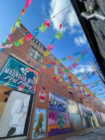 The Magnolia Mile Art Alley, located behind Craft Pies Pizza on West Main Street, offers visitors a world of color and imagination straight from the minds of local artists.