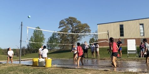 Students teamed up to play the springfest tradition of mud volleyball and were bracketed in a tournament.