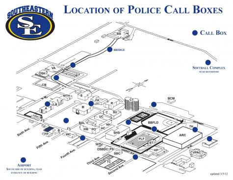 Utilize this map to locate police call boxes on campus.