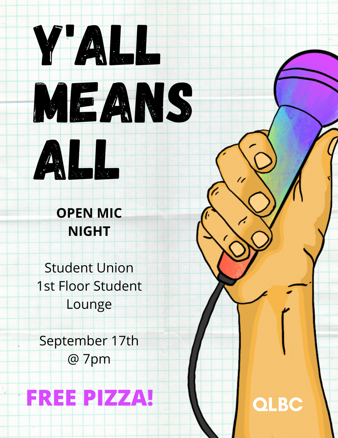The Queer Leftist Book Club is hosting an open mic night where people can feel comfortable in their own skin and can speak freely without worrying about judgment.