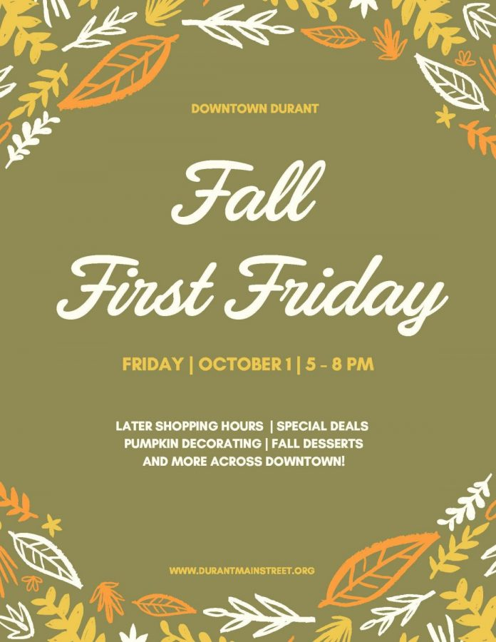 Find fun things to do in Downtown Durant this Friday, Oct. 1.