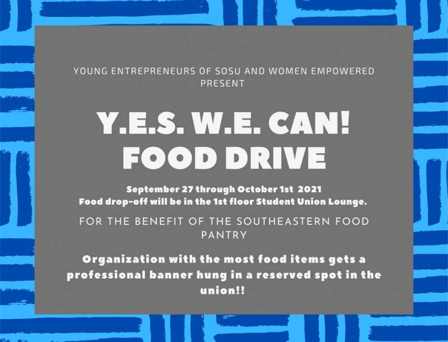 The+Y.E.S.+W.E.+Can+food+drive+will+be+held+for+the+benefit+of+the+campus+food+pantry.